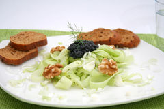 Salad with caviar Royalty Free Stock Photography