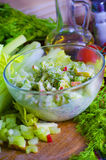 Salad of celery and apple Stock Photography