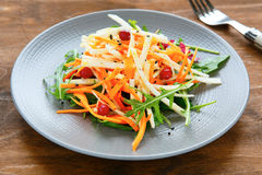 Salad with celery and carrots, Royalty Free Stock Image