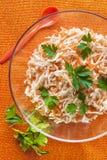 Celery carrots food salad parsley vegetable orange royalty free stock photography
