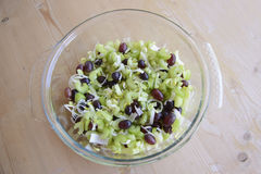 Salad with celery and grapes Royalty Free Stock Photo