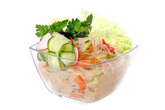 Salad of cellophane noodles and cucumber Stock Image