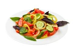 Salad on ceramic plate Stock Photography