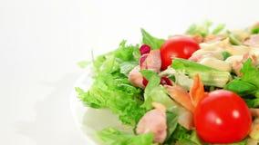 Salad with chciken stock footage