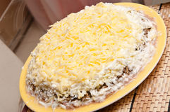 Salad with cheese Stock Image