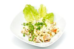 Salad with cheese Royalty Free Stock Images
