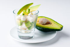 Salad with cheese and avocado Stock Image