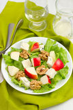 Salad with cheese gorgonzola and apple Stock Photo