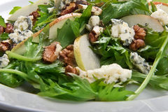 Salad with cheese and nuts Royalty Free Stock Images