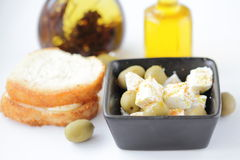 Salad with cheese and olives Stock Photography