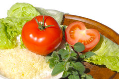 Salad with cheese and oregano Stock Images