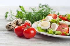 Salad with cherry tomato and eggs Stock Image