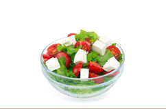 Salad with cherry tomatoes Stock Photo