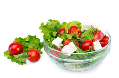 Salad with cherry tomatoes Royalty Free Stock Images