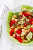 Salad with chick pea Stock Photos