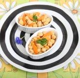 Salad of chick peas Royalty Free Stock Image