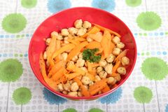 Salad of chick peas Royalty Free Stock Photo