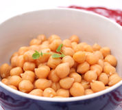 Salad of chick peas Royalty Free Stock Photos