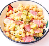 Salad of chick peas Royalty Free Stock Image