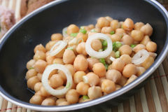 Salad of chick peas Stock Photos