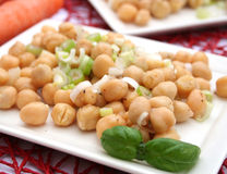 Salad of chick peas Stock Photo