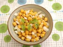 Salad of chick peas Stock Image