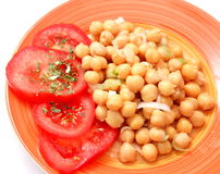 Salad of chick peas Stock Photography