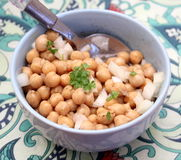 Salad of chick peas Stock Images