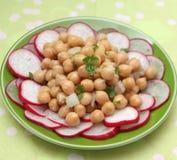 Salad of chick peas Royalty Free Stock Photos
