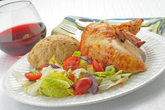Salad and Chicken Stock Photography