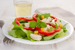 Salad with chicken Stock Images