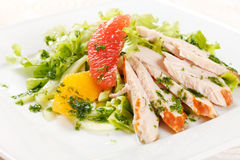 Salad with chicken Royalty Free Stock Image