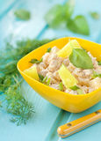 Salad of chicken breast with pineapple Royalty Free Stock Photos
