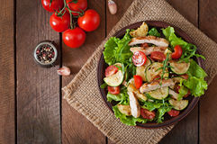Salad of chicken breast Royalty Free Stock Image
