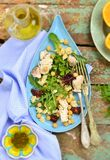 Salad with chicken, chickpea  and couscous Royalty Free Stock Image