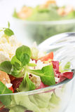 Salad with chicken and curd cheese Stock Photo