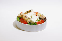 Salad with chicken fillet, tomato and feta Royalty Free Stock Images
