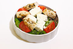 Salad with chicken fillet, tomato and feta Stock Photos