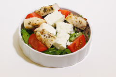 Salad with chicken fillet, tomato and feta Stock Images