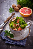 Salad with chicken and grapefruit Stock Photo