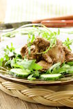 salad with  chicken liver Royalty Free Stock Image