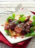 Salad with chicken livers Royalty Free Stock Image