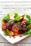 Salad with chicken livers Stock Photos