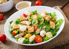 Salad with chicken, mozzarella and tomatoes Stock Image