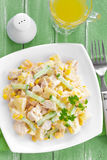 Salad with chicken and pineapple Stock Photo