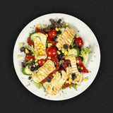 Salad with chicken and vegetables Royalty Free Stock Photos