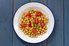 Salad with chickpea and tomato Stock Photo