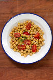 Salad with chickpea and tomato Royalty Free Stock Images