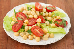 Salad with chickpea Stock Photography