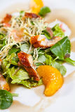 Salad with chiken and orange royalty free stock photo